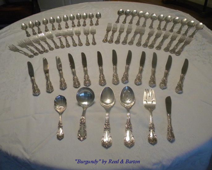 Burgundy by Reed & Barton sterling flatware set