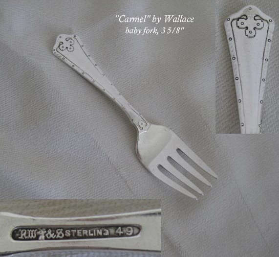 1 ALVIN STERLING SILVER  1933 CHASED ROMANTIQUE PATTERN SALAD FORK 6-1//2/""