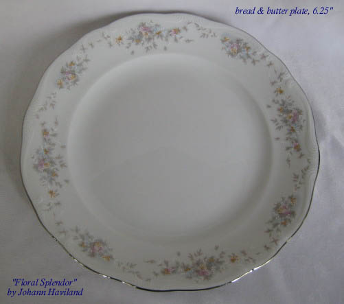 CHINESE BOUQUET GREEN #1515-12 AVAIL..... BREAD /& BUTTER PLATE HEREND