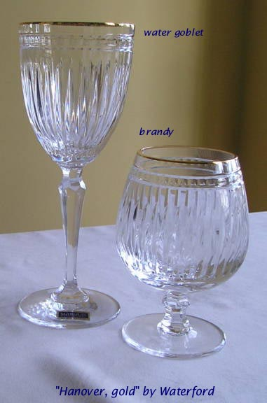 Hanover gold Waterford Marquis crystal