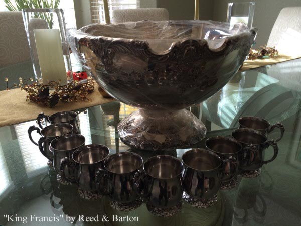 King Francis by Reed & Barton silverplated punch bowl set