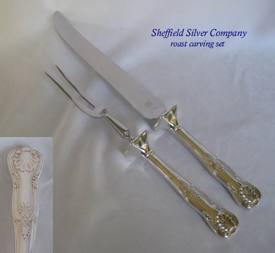 Sheffield Kings silverplated carving set