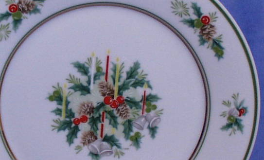Holly by Noritake Christmas china