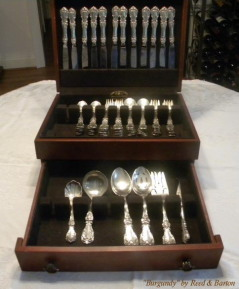 sterling flatware set Burgundy by Reed and Barton