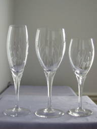 Jolie by Gorham crystal wine and goblets